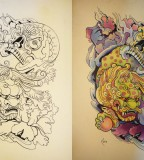 Tattoo Design Japanese Foo Dog And Skull