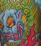 Awesome Foo Dog Tattoo Design