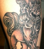 Wonderful Foo Dog Tattoo Designs
