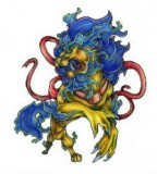 Beautiful Asian Foo Dog Tattoo