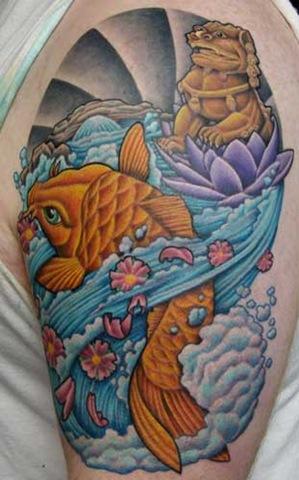 Fu Dog Guardian Lion Tattoo
