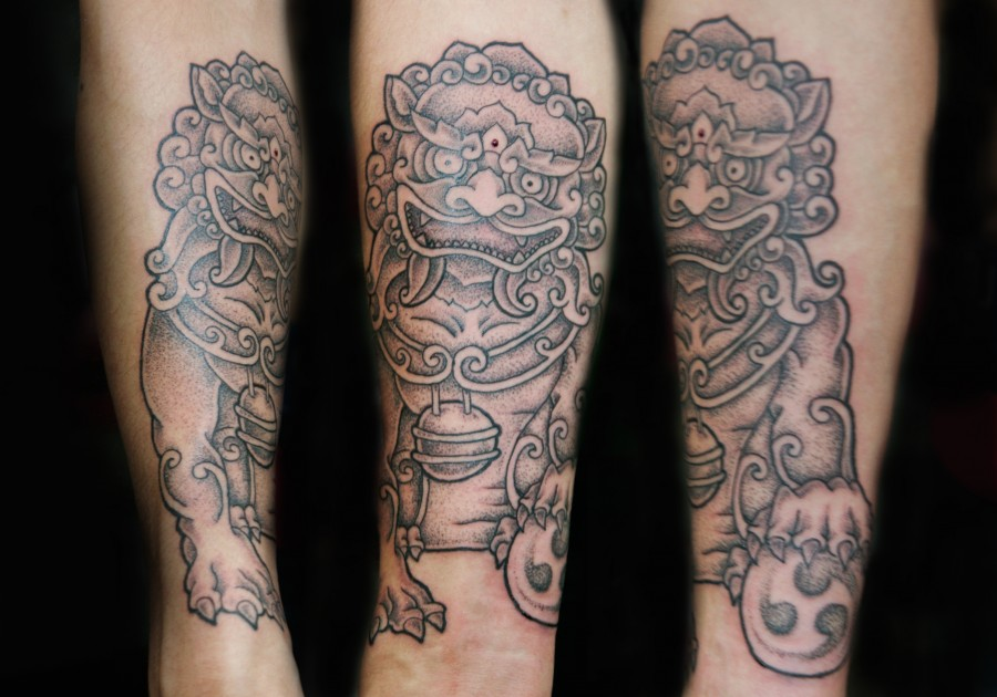 Foo Dog Chinese Guardian Lion Tattoo