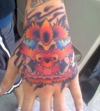 Red Foo Dog Tattoo