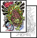 Asian Foo Dog Tattoo Sample