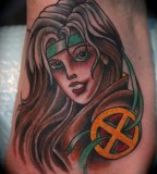 Wonder Women Tattoo Design on Foot for Men