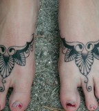 Awesome Cherry Blossom Foot Tattoos