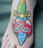 Painful Tattoo Design on Foot for Men