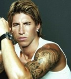 Football Sergio Ramos Upper Arm Tattoo Design Idea