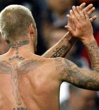 David Beckham Back Tattoo Picture