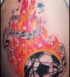 Football Tattoo Designs For Football Lovers