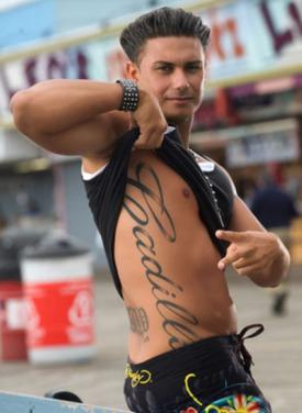 Cool Ribs Tattoo Design Idea for Football Player