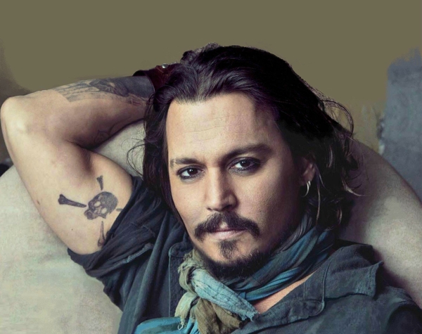 Johnny Depp Tattoo Design for Men