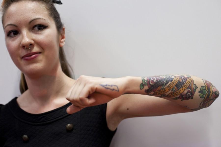 Forearm Art Tattoo Design For Girls