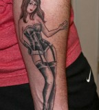 Lovely Girl Forearm Tattoo Design