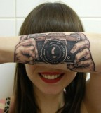Say Cheese Camera Tattoo - Girls Forearm Tattoos