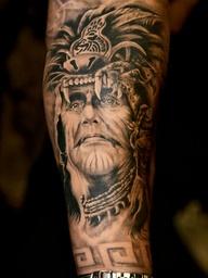 Indian Arm Art Tattoo Design