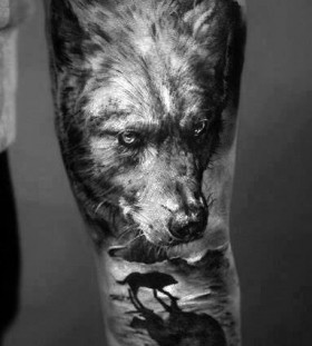 forearm-wolf-tattoos