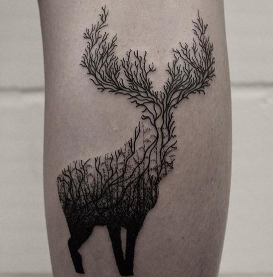 forrest-deer-autumn-tattoo