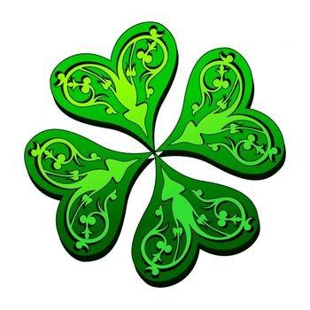 Four Leaf Clover Design for Tattoo
