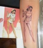 Clover Leaf And Nurse Tattoo Design