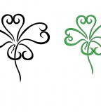 Four Leaf Clover Art Design