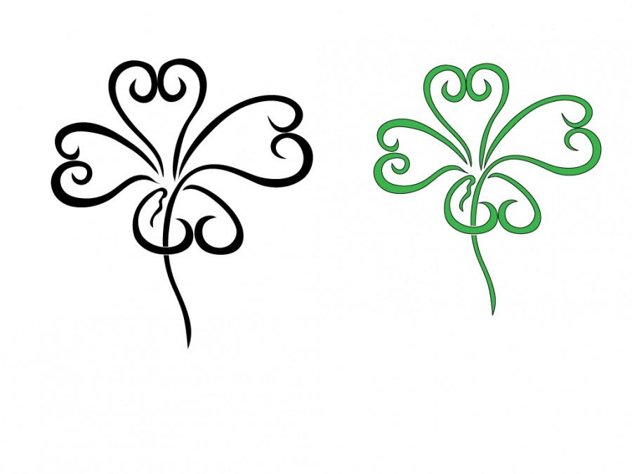 Four Leaf Clover Art Design