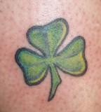 Four Leaf Clover Tattoo Close-Up Photo
