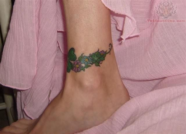 Cute Four Leaf Clover Tattoo On Ankle