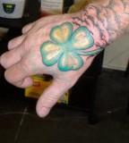 Arm Four Leaf Clover Tattoo Design