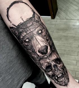 fredao_oliveira-bear-skull-tattoo