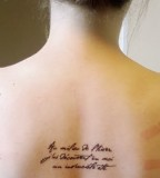 French Quote Tattoo on Back
