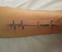 Hand Writing Qutoes Tattoo Design