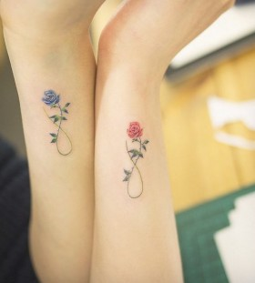 friendship flower tattoo