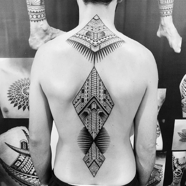 full back tribal tattoo