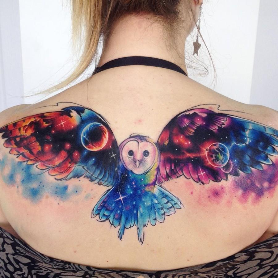 galaxy-owl-watercolor-tattoo