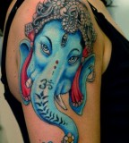 Ganesh Tattoo By Adam Photos From Horimono Tattoo Studio