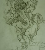 Ganesh Tattoo Sketch By Chrisxart On Deviantart