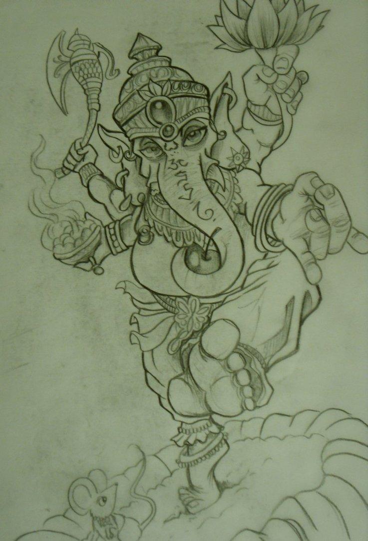 Ganesh Tattoo Sketch By Chrisxart On Deviantart