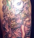 Hindu Deity Lord Ganesh Tattoo By Hiram Cordero