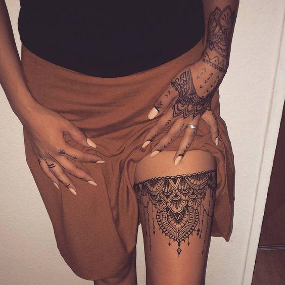 garter mandala tattoo