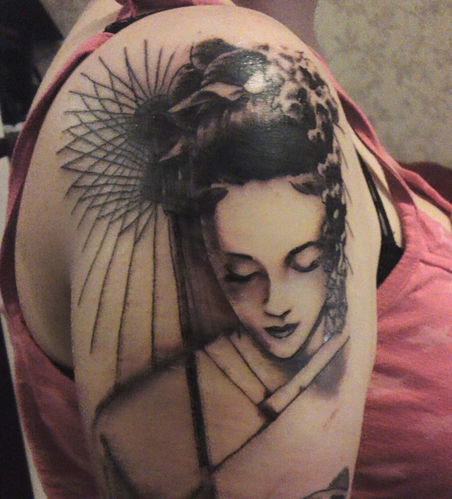Geisha Japanese Tattoo Design Designs Tattooan Free Download