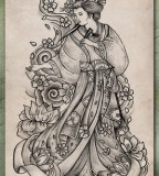 Tatatatta Art Japanese Tattoos With Image Japanese Geisha Tattoo