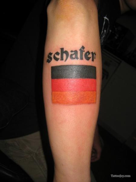 German Flag Tattoo for Football Lovers