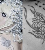 Lady Gagas Body Tattoos With Meanings
