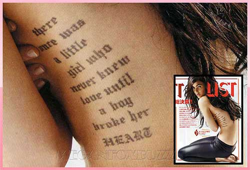Megan Fox Tattoo Designs With Meanings