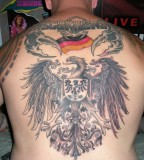 German Flag and Symbol Tattoo