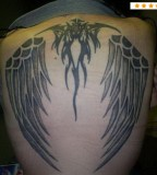 Awesome Tribal Tattoo Design for Upper Back