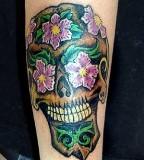 Kat Von D Skull Tattoo