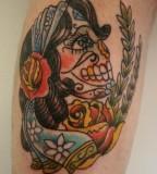 Candy Skull Tattoo Tattoos