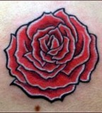Girly Rose Tattoo